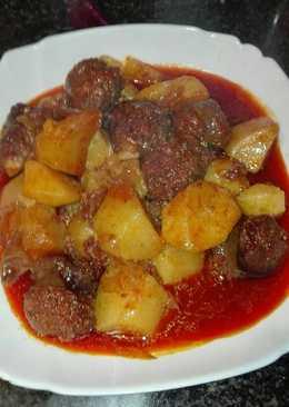 Patatas al estilo riojano con chorizo de jabalí en la olla GM g