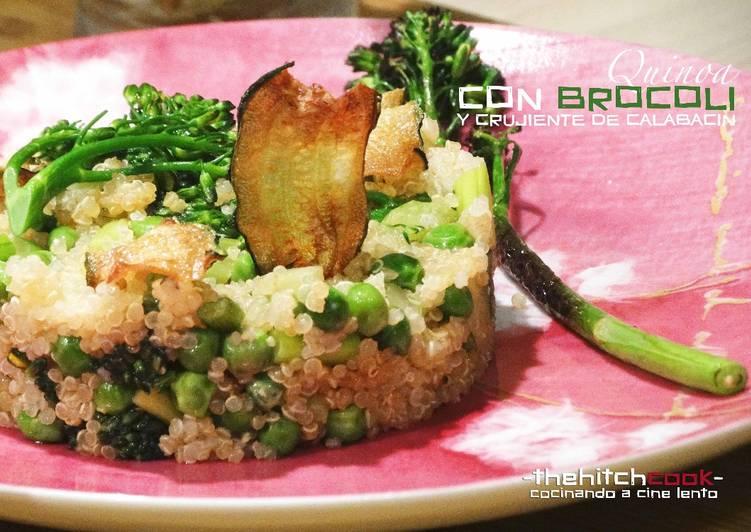 Quinoa con verduras y crujiente de calabacín