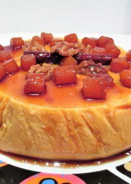 Tarta en frío muy fácilde calabaza y queso fresco tradicional