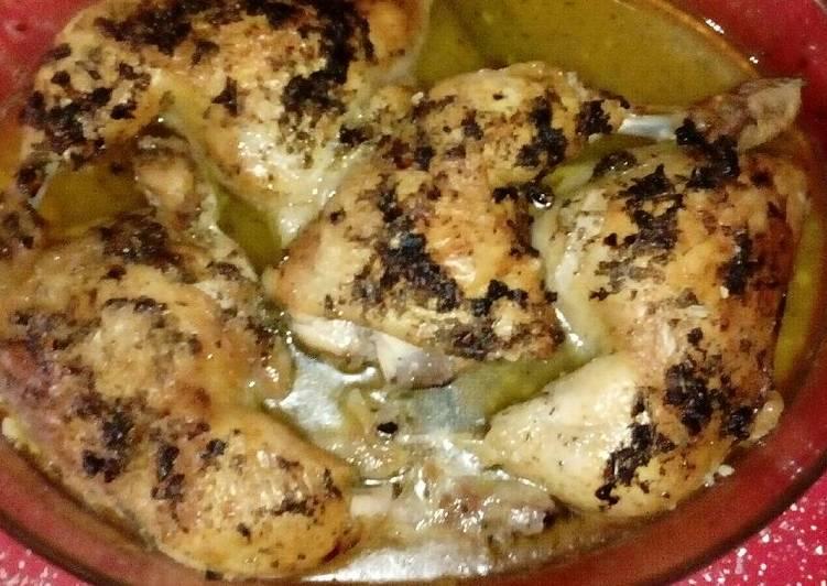 cuartos traseros de pollo asados en salsa de lim n y