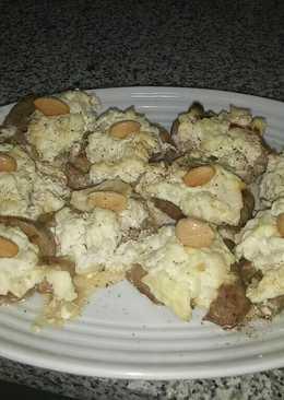 Solomillo de cerdo con queso fresco y crujiente de Navidad