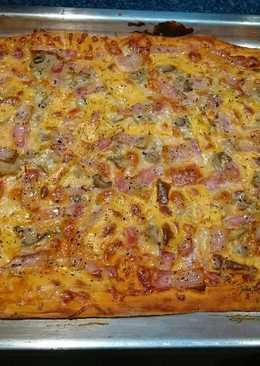 Pizza 🍕 de bacon 🍕🍅🔥