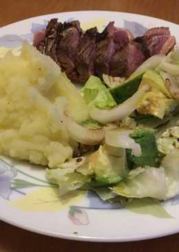 Magret de pato con salsa de miel y balsámico