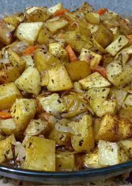 Batatas al microondas-grill