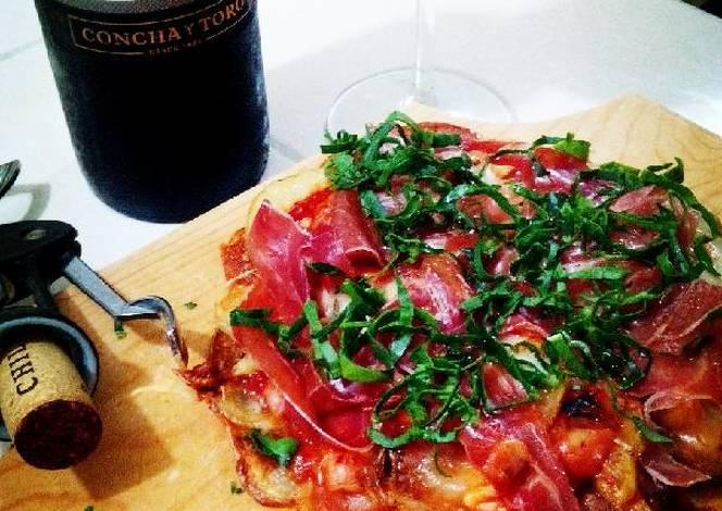 Resultado de imagen para Pizza de papa con jamón serrano