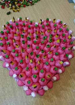 Tarta chuches emamorados «San Valentín »