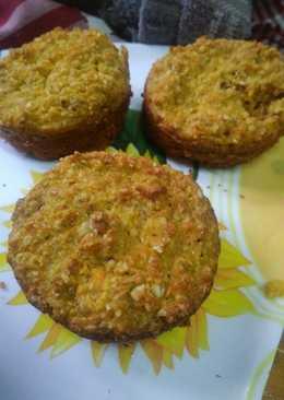 Muffins sin harina de zanahoria, manzana y avena fáciles
