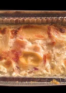 Patatas con nata y beicon