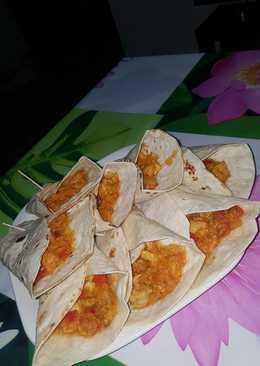 Burritos de pollo y verduras