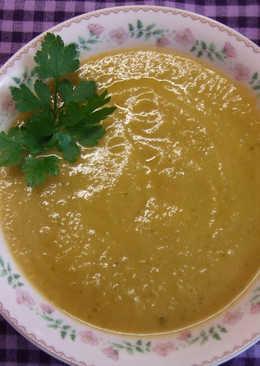 Crema-sopa de nabos y puerros