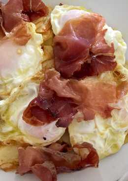 Huevos rotos con jamón 🌹receta de siempre 😍👌🏻
