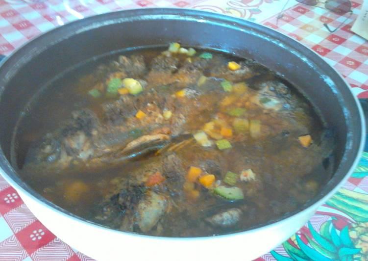 Caldo De Pescado Con Mojarra Frita Receta De Carmen Palomino Cookpad