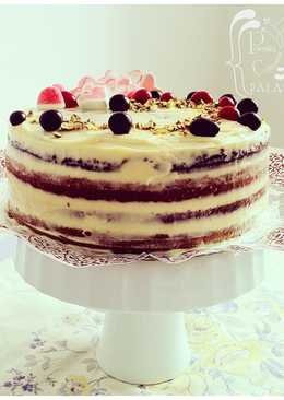 Naked Cake de cumpleaños (zanahoria-plátano)
