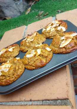 Muffins de coco y banana. Sin gluten, sin azúcar, sin aceite