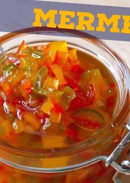 Mermelada de pimientos rojos verdes
