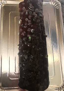 Brazo de gitano de nata con ganache de chocolate