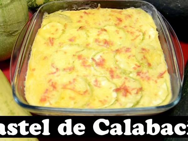 Pastel de Calabacín. Microondas