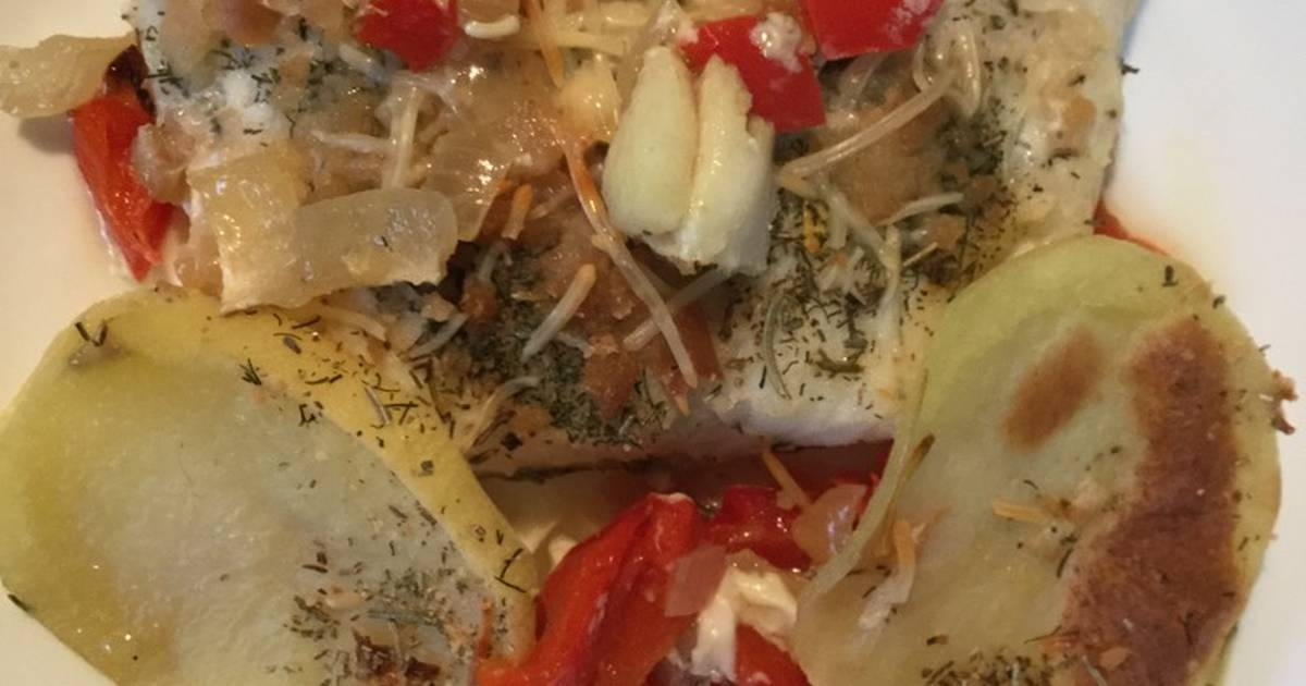 Bacalao al horno con verduras 364 recetas caseras cookpad - Cocinar bacalao congelado ...