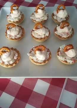 Aperitivos de surimi y mousse de salmón