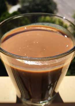 Crema pastelera de café mocha en microondas 4 minutos