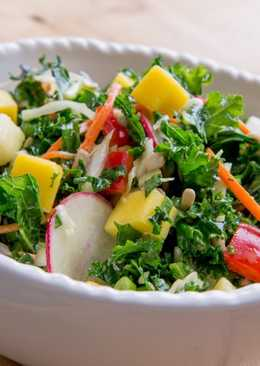 Ensalada de pina con rabanitos (Receta vegetariana)