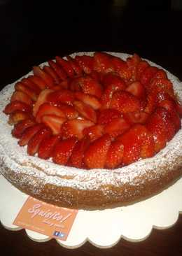 Exquisito cheesecake con fresas