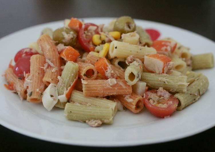 Ensalada fresca de pasta de verduras perfecta para tupper - Ensalada fresca de pasta ...