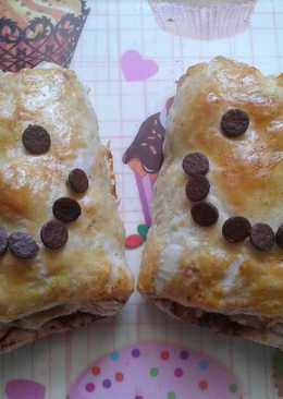 Napolitanas de manzana, canela y chocolate