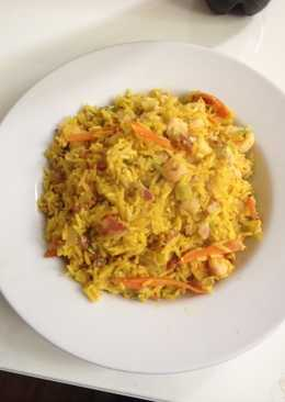 Arroz chino con camarones