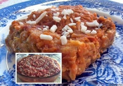 Mousaka con bechamel y tomate 🍅 🍆
