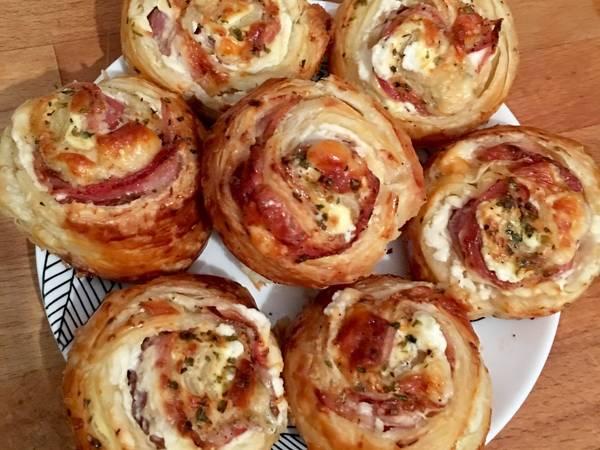 Rollitos de bacon, queso y philadelphia 🍕🥓🧀