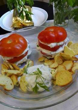 Tomates rellenos a la italiana