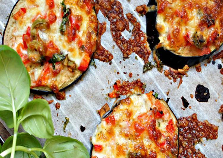 Minipizzas de berenjena tranquila