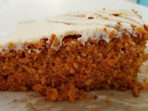 Carrot cake con cobertura de queso 🥕