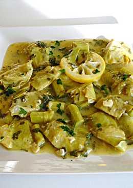 Alcachofas fáciles al ajo, perejily limón - vegano