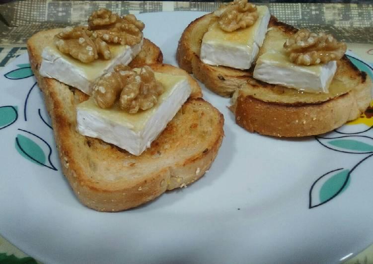 queso brie con nueces