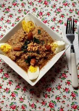 Cuscus semillado y huevo. ¡Muy nutritivo y fácil!