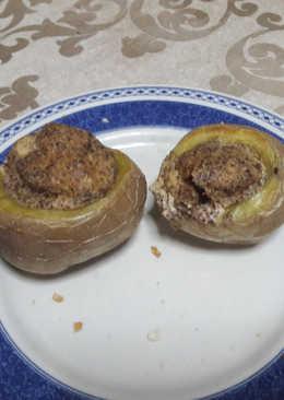 """Patatas asadas rellenas de """"huevo"""" veganas  🥔"""