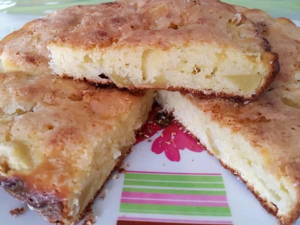 Torta de manzana y mascarpone