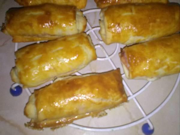 Napolitanas de jamón y queso, perfectas para llevar en tuper