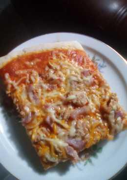 Pizza atún y bacón