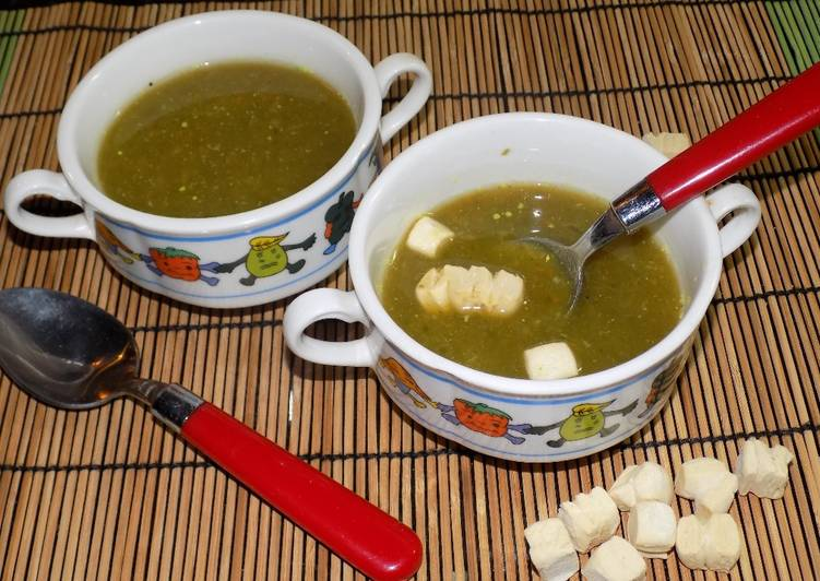 Sopa casera de verduras... Sopa cremosa