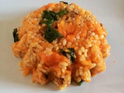 Arroz integral al curry con verduras
