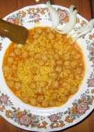 Arroz  con  Garbanzos en olla express