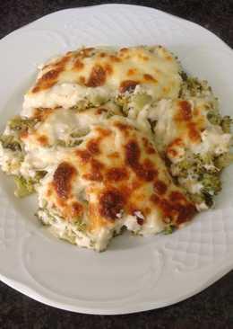 Brócoli gratinado con beicon y piñones AMC