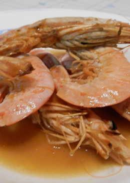 Gambones a la plancha con salsa de limón
