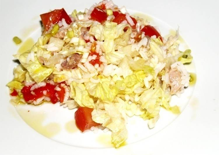 Ensalada de arroz blanco y at n receta de marina cookpad - Ensalada de arroz y atun ...
