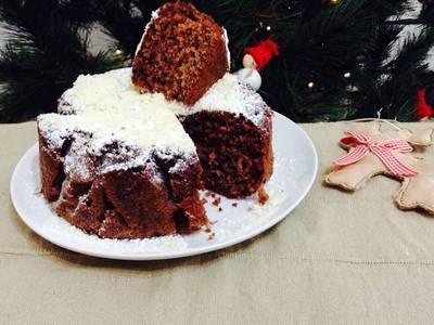 Bizcocho de chocolate para Navidad