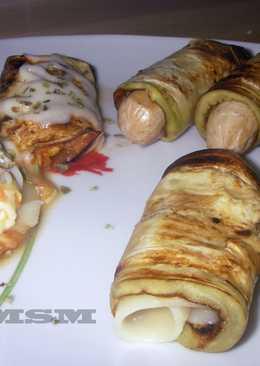 Rollitos de berenjena con queso/tofu/tomate