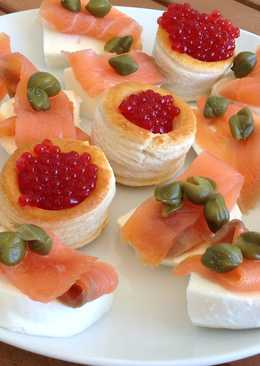Canapes salmon ahumado 12 recetas caseras cookpad for Canape de salmon